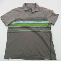 PrAna Mens Button Front Shirt Pocket Gray Short Sleeve Medium Cool Regular