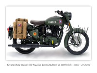 Royal Enfield Pegasus Motorcycle - A3 Size Print Poster on Photographic Paper