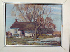 CANADIAN IMPRESSIONIST ANTIQUE OIL PAINTING GROUP OF SEVEN STYLE LANDSCAPE
