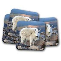 4 Set - Beautiful Mountain Goat Glacier Coaster - Animal Lover Cool Gift #16568