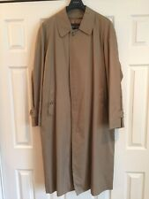BURBERRY TRENCH/RAIN MAC COAT WITH WOOL LINING SIZE 42