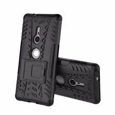 Hybrid Case 2teilig Outdoor Schwarz Tasche Hülle für Sony Xperia XZ2 Etui Cover