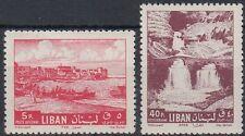 Libanon Lebanon 1962 ** Mi.761/62 Landschaft Landscape Wasserfall Waterfall Afka