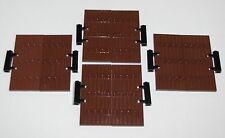 LEGO LOT OF 8 REDDISH BROWN DOORS CASTLE PARTS WITH BLACK HINGES PARTS