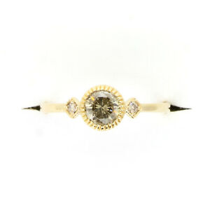 Salt and Pepper diamond and White diamonds Ring in Yellow Gold