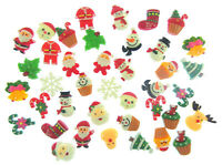 PACK 10 MIXED CABOCHONS RESIN FLATBACK CHRISTMAS CAKE SCRAPBOOKING