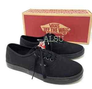 VANS Women's Authentic Lo Pro Black Canvas Sneakers VN000GYQBKA