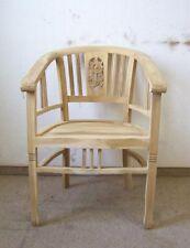 Gartenstuhl Armlehnstuhl im Set Teak-Holz Natur Antik-Stil