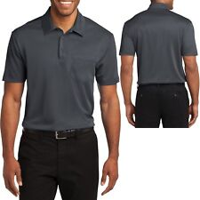 Mens POCKET Polo Shirt Moisture Wicking Poly Performance XS-3XL, 4XL NEW