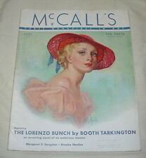 MCCALLS MAGAZINE JULY 1935 BOOTH TARKINGTON BROOKE HANLON ICE CREAM