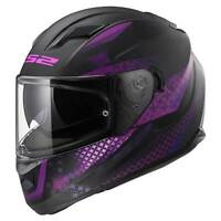 LS2 Stream EVO FF320 Lux Matt Black / Pink Ladies Full Face Motorbike Helmet