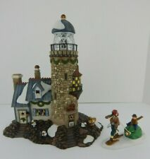 Dept 56 New England Village Christmas at Salt Bay Lighthouse Complete Set #57007