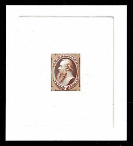 WCstamps: U.S. Scott #149-E6 / $500 - 7c Dull Red Brown Essay On India, PF Cert
