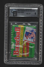 1990 Topps Yearbook Sticker Baseball Pack GAI Graded 8