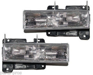 New Replacement Headlight Assembly PAIR / FOR CHEVROLET & GMC C/K TRUCK SUV