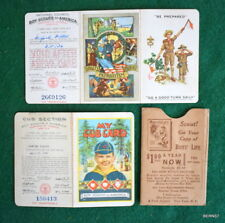 VINTAGE  BOY SCOUT  -1934 & 1936 CUB AND SCOUT MEMBERSHIP CARDS - SAME BOY