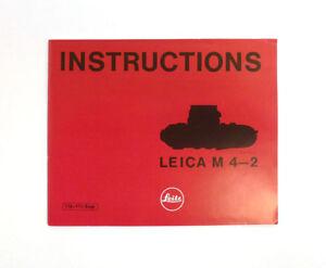Leica M 4-2 Original Instruction Manual