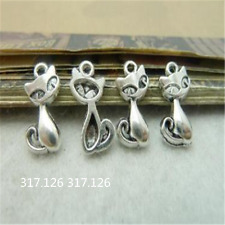 20X Tibetan Silver Fox Animal Pendant Beads Charm Findings 11mm*17mm GU235
