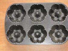 NORDIC WARE BUNDT-LETTE BLACK CAST-ALUMINUM BAKING PAN - MADE IN THE USA