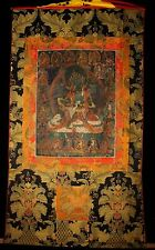 "Wonderful 19th Century Old Antique Tibet Tibetan Tangka Thangka  ""Green Tara"""