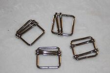 "Lot 1 doz silver metal square BELT slide BUCKLE Buckles 1"" Doll Craft Sewing g69"