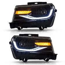 New Pair For Chevrolet Chevy Camaro 2014-2015 Projector Headlights Front LED