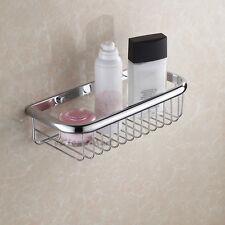 Wall Mounted Corner Shelf Bathroom Storage Basket Shower Caddy Tidy Rack Chrome