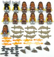 LEGO 13 NEW DWARF CASLTE KNIGHTS LORD OF THE RINGS FIGURES WITH SWORDS