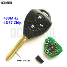 Car Remote Key for Toyota Camry Corolla Prado RAV4 Vios Hilux Yaris 3Buttons