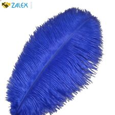 10pcs Ostrich Feathers 12-14inch 30-35cm for Home Wedding Decoration Royal Blue