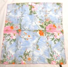 "Symphony Scarfs Ladies Amal/Nylon Scarf 21"" X 21"" Multi-Color Pastel Floral"