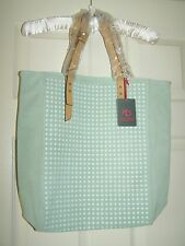 Kelsi Dagger Cicely Lrg Suede Tote MSRP $198 with Stud Details color Mint NWT