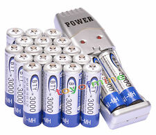 20 pcs X AA BTY Rechargeable Battery 3000mAh Ni-MH 1.2V + USB Charger
