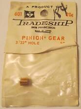 "Tradeship Brass Pinion Gear, 9 Tooth, 3/32"" Hole #601, MIP"