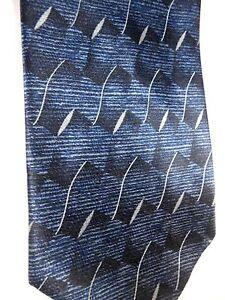 "Puritan Men' Polyester Tie 57"" X 3.75"" Blue w/ silver Geometric"