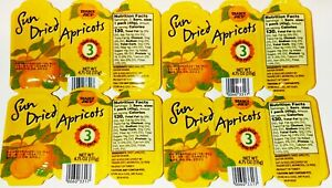 Trader Joe's Sun Dried Apricots Trio Pack 4.75 OZ  (135g)  4 Pack  1 lb+