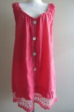 Linen dress with lace, size AUS 12-14, preloved