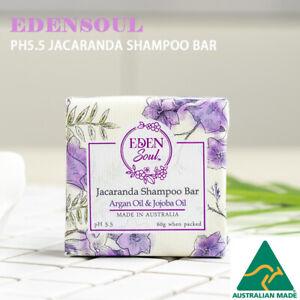 pH 5.5EdenSoul Jacaranda Shampoo Bar AUS Made Solid No SLS,Phosphate Silicone p