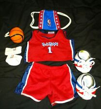 BABW Build-a-Bear Red White Blue Basketball Uniform Jersey Shorts Shoes flaw