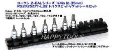 KOKEN Z-EAL 1/4 INCH TORX BIT SOCKET SET(7pcs) RS2025Z/7-L28 JAPAN With Tracking