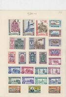 Spain Stamps on album page Ref 15115