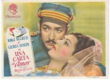 Programme et chanson—Film mexicain «Una carta de amor»—Jorge Negrete—1943