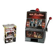 Novelty Slots Machine Money Box with light & sound piggy bank secret Santa /1228
