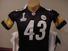 GORGEOUS Troy Polamalu Pittsburgh Steelers Youth Sm Reebok SB XLV Jersey, NEW!
