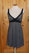 MISS SELFRIDGE black silver metallic lurex party evening holiday sun dress 8 36