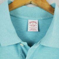 BROOKS BROTHERS Size XL Light Blue Performance Polo Sport Shirt Mens Golf Cotton