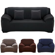 Solid Color Sofa Cover Stretch Seat Couch Covers Love Seat Funiture Slipcover US
