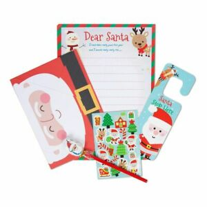 11 Piece Letter to Santa Writing Kit Templates Envelopes Stickers Pencil Eraser