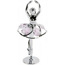 Crystocraft Ballerina Crystal Ornament With Swarovski Elements Gift Boxed Pink