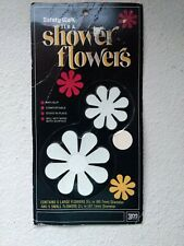 3M Safety Walk Vtg 1972 Tub Shower Flowers 10 White Anti-Slip Decals NOS Sealed